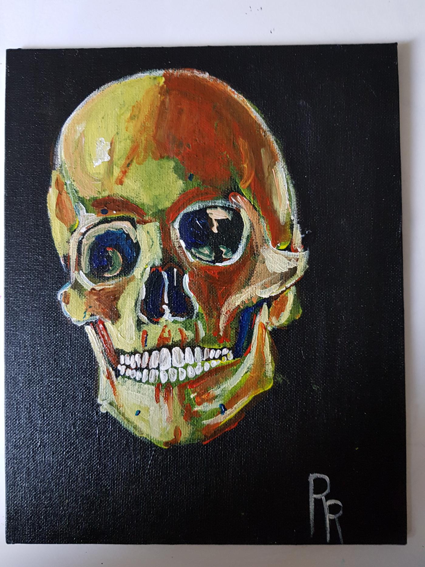Radical Rhymes skull art