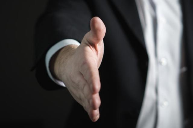 hand offered as handshake